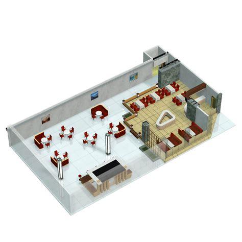 Floor Plan Layout Software restaurant de poissons puante for poser 3d models