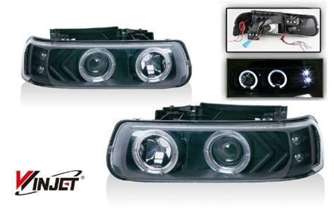 Vanguard Kinray Lite 48 Black 99 02 chevy silverado halo projector lights black