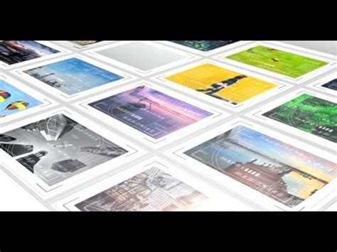 Mosaic Photo Album With Frames After Effects Template Youtube Free Photo Mosaic After Effects Templates