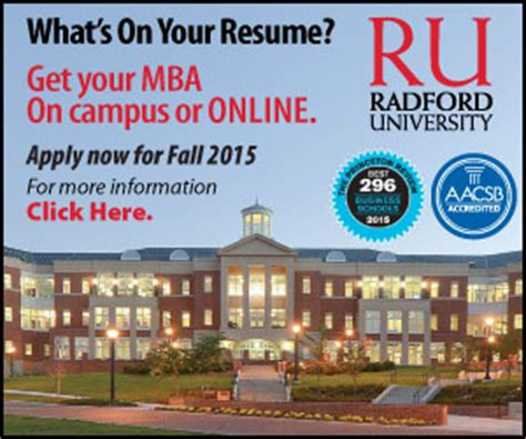 Radford Mba Program by Radford Introduces Mba Program Delivery