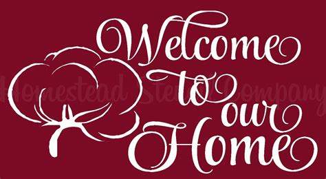 home stencil welcome homestead stencil company primitive sign