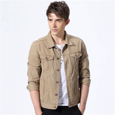 Jacket Denim Mens Premium kcoyster brand mens trucker jacket american