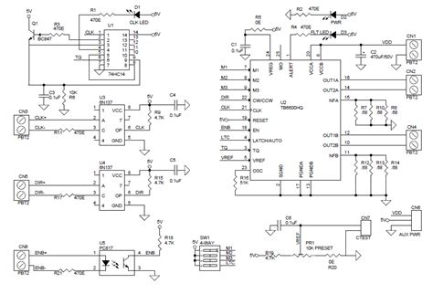 Driver Stepper Motor Bipolar Tb6600 4 5s bipolar stepper motor driver based on tb6600 electronics lab
