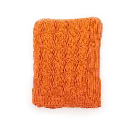 Throw Blankets by Darzzi Burnt Orange Big Cable Throw Blanket 50x60