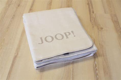 Decke Joop by Joop Kuscheldecke Wohndecke Ecru Feder Uni Doubleface