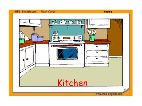 rooms of the house in house flashcards