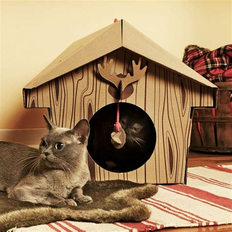the cat house cardboard cat house cat scratcher play house could be more great idea meow cat com