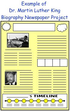 biography newspaper book report february writing prompts creative writing topics and