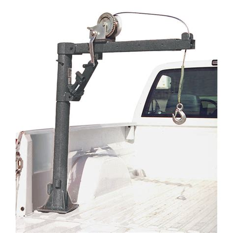 truck bed hoist 1 2 ton capacity pickup truck crane with cable winch