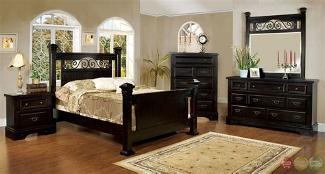 iron bedroom sets sonoma country espresso poster bedroom set with rod iron