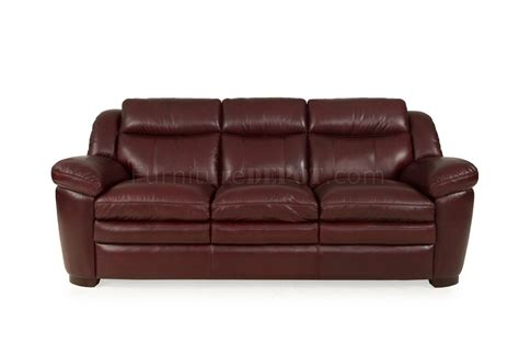 Burgundy Leather Sofa 8550 Sonora Sofa Loveseat In Burgundy Set By Leather Italia