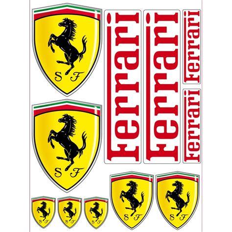 Ferrari Aufkleber 1 planche de 11 stickers autocollants ferrari stickers