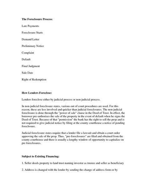 Mortgage Foreclosure Letter Exle Best Photos Of Mortgage Demand Letter Sle Sle