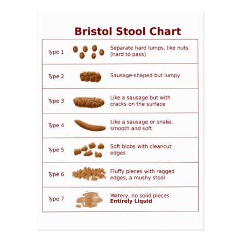 Bistol Stool Chart by Bristol Stool Chart Scale Postcard Zazzle