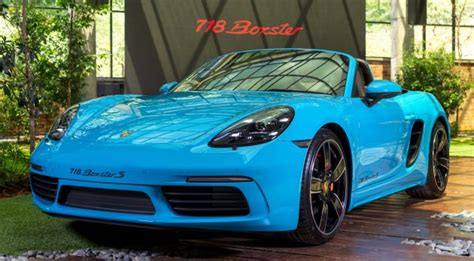 miami blue porsche boxster porsche 718 boxster launched in m sia from rm480k