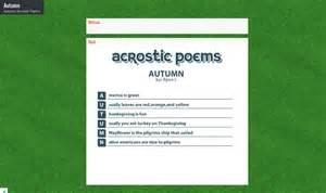 Autumn acrostic poems view autumn padlet acrostic poem is an ipad app