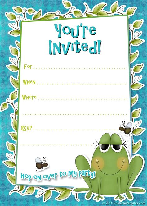 birthday invitation card template word birthday invitation template birthday