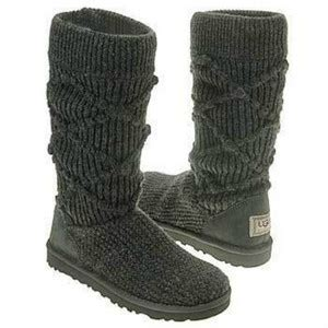 grey knitted boots ugg classic arglyle grey knit boots ugg boots fan