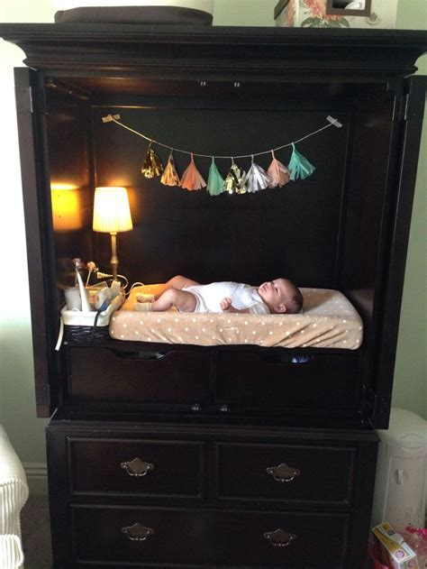 Changing Table Armoire by 25 Best Ideas About Nursery Armoire On