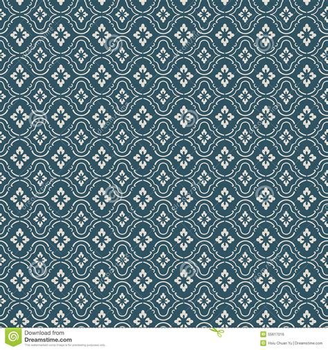 Diamond Pattern Vintage Blue Dress   seamless vintage blue flower diamond check pattern