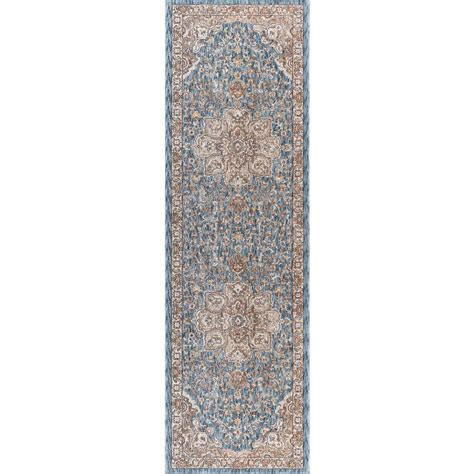tayse rugs fairview navy 2 ft 3 in x 11 ft runner