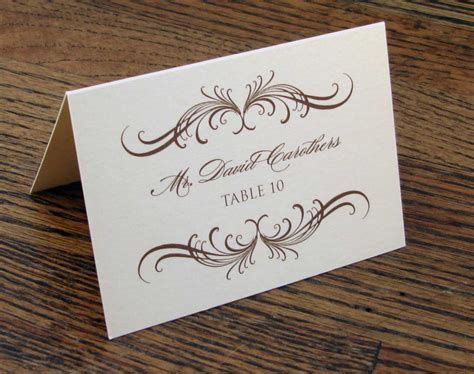 Wedding Etiquette The Ultimate Guide Gentleman S Gazette Table Setting Name Cards Template