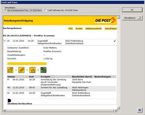 Post Schweiz Brief Tracking Codx Software Ag Gt Codx Postoffice Gt Poststellenmanagement Gt Kep Dienstleister Gt Die Post Modul