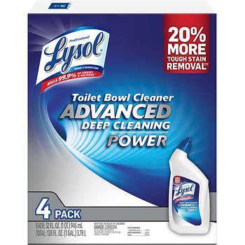 lysol advanced toilet bowl cleaner  oz  ct