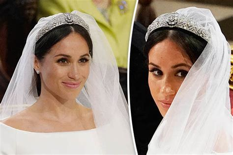 meghan markle what tiara did she wear meghan markle s tiara is not diana s it belonged to this