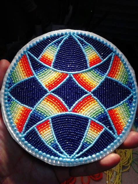 beaded medallion patterns beaded medallion by lennis denny beading