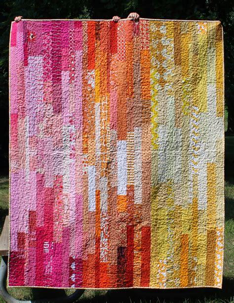 teaginny designs scrappy improv quilt