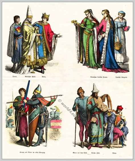 design history clothes medieval gothic costumes 12th century clothing nobility