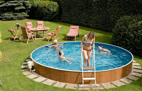 backyard swimming pools above ground pool design ideas
