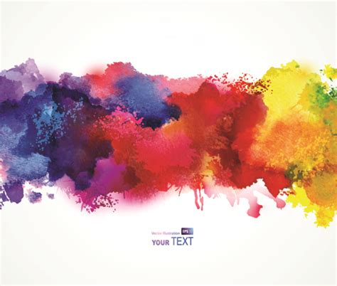 splash watercolor stains background vector material 04 millions vectors stock photos hd