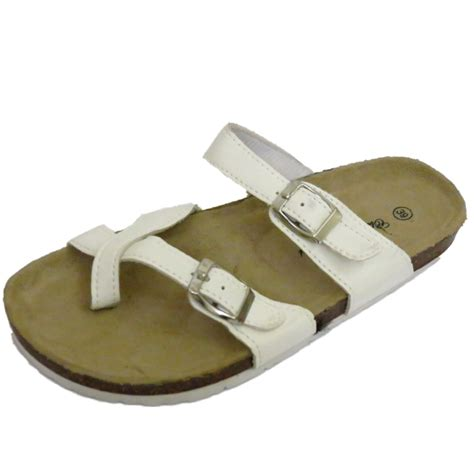 white comfort sandals ladies white flat slip on toe post summer comfort sandals