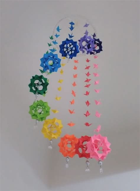 Origami Mobiles - origami origami wind chime mobile