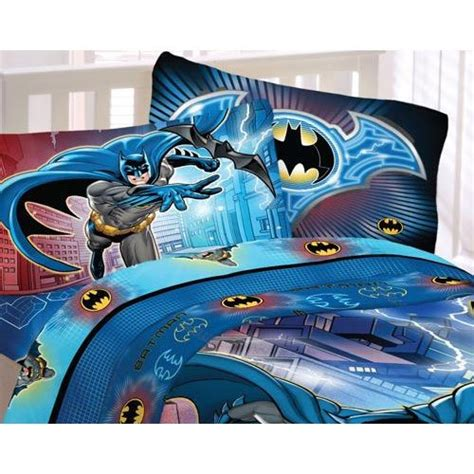 batman bed sheets dc comics batman full sheet set 4pc lightning night