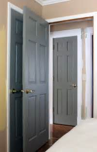 Colored Interior Doors Painted Gray Doors Guest Room And Our Humble Abode