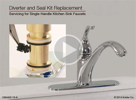 How To Install A Faucet In The Kitchen Diverter And Seal Kit Replacement For Single Handle Kitchen Sink Faucets