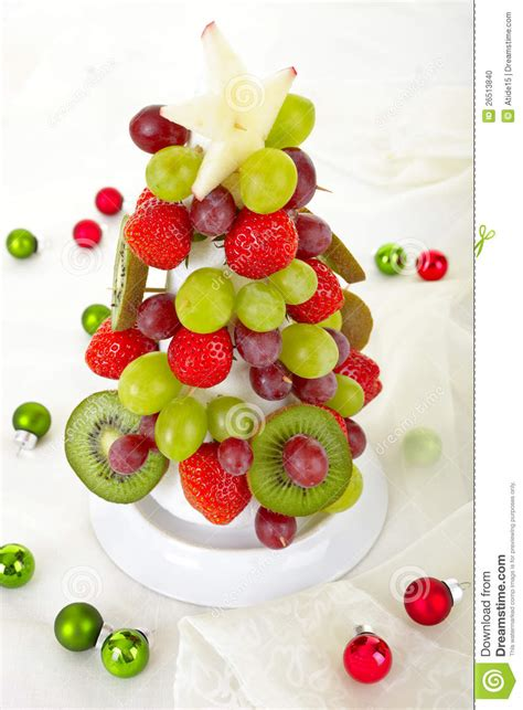 fruit christmas tree stock photo image 26513840