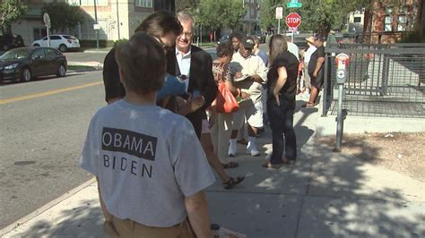 in color sacramento lineup coloradans line up for tickets to see president obama