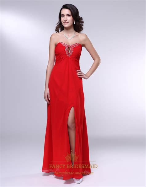 red strapless bridesmaid dresses long empire waist bridesmaid dresses long strapless chiffon formal gown red chiffon empire