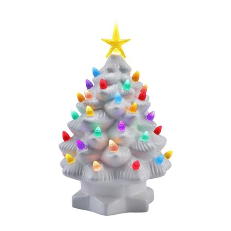 mr christmas 10 in white nostalgic christmas tree with