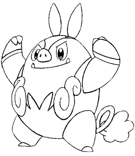 pokemon coloring pages pignite coloring pages pokemon pignite drawings pokemon