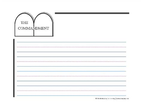 Ten Commandments Notebooking Pages Notebooking Fairy Ten Commandments Printable Template