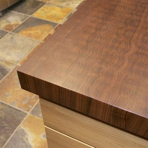 made walnut end grain butcher block top live edge