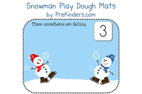 printable winter playdough mats snowman play dough mats prekinders
