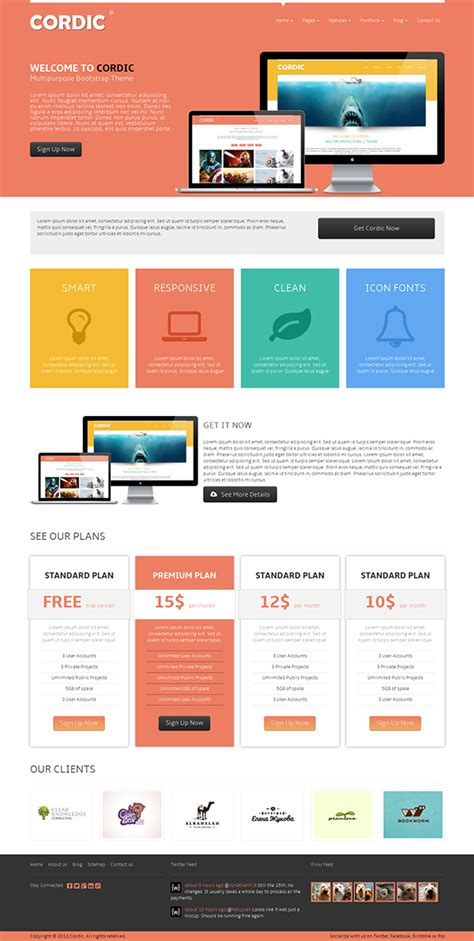 bootstrap themes right to left cordic html 5 bootstrap theme on behance