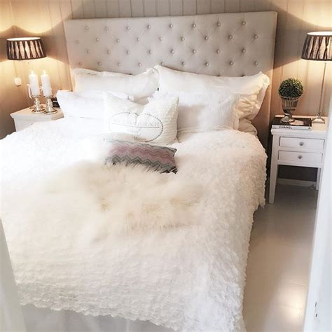 flauschige bettdecke fluffy white bedding