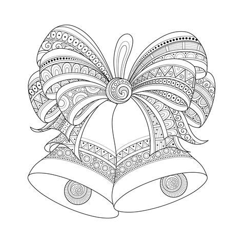christmas zentangle coloring page christmas bells zentangle style by irinarivoruchko